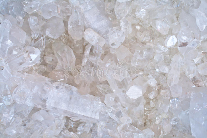Cristal de quartz blanc images stock