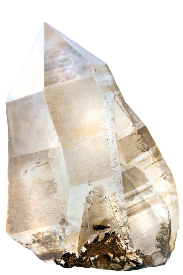 Cristal de quartz fumeux photographie stock