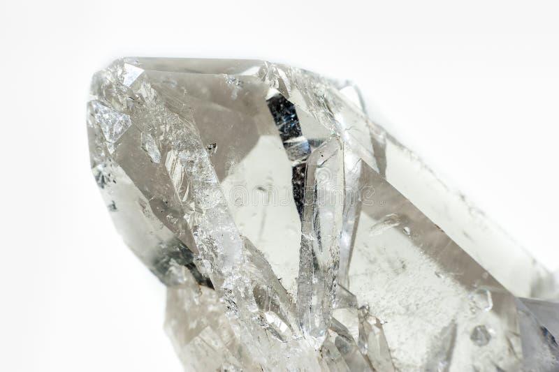 Cristal de quartz transparent photo libre de droits