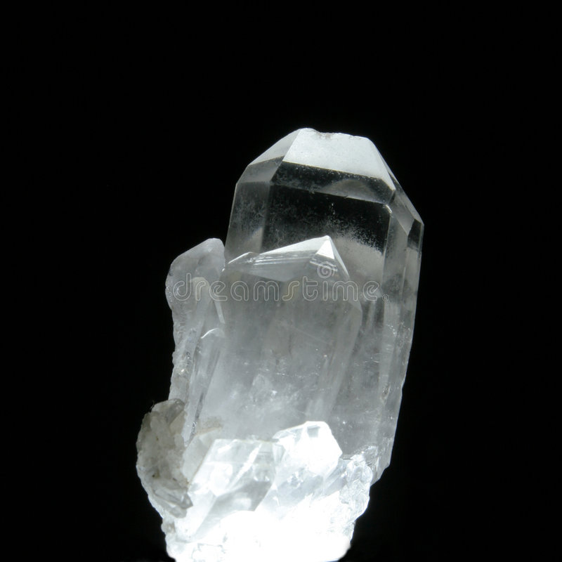 Cristal de quartzo imagens de stock