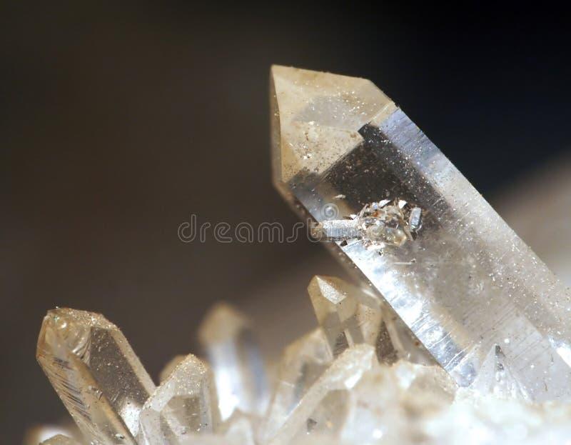 Cristal de roche image stock