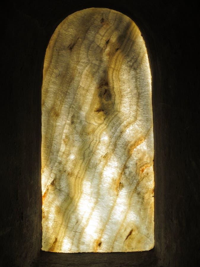 Cristal de ventana veteado fotografía de archivo libre de regalías