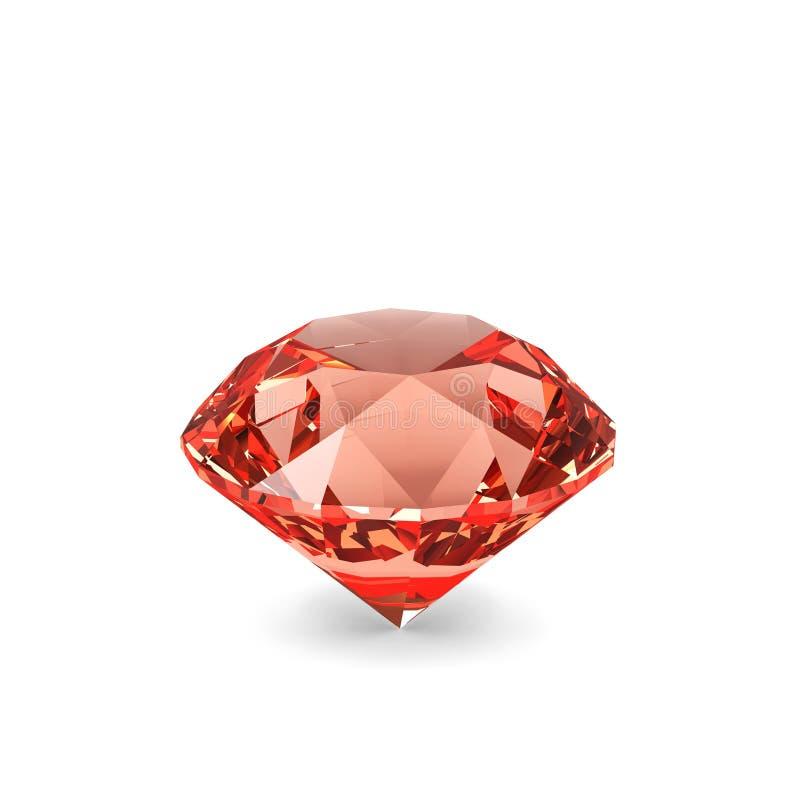 Cristal do diamante. ilustração do vetor