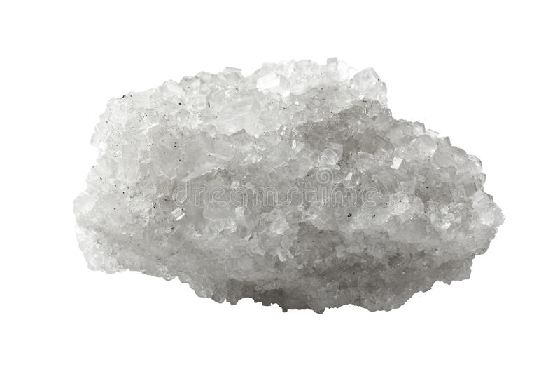 Cristal do sal mineral fotos de stock royalty free
