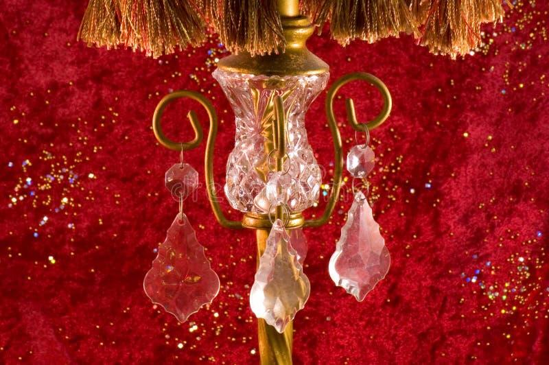Cristal en la lámpara vieja del Victorian fotografía de archivo