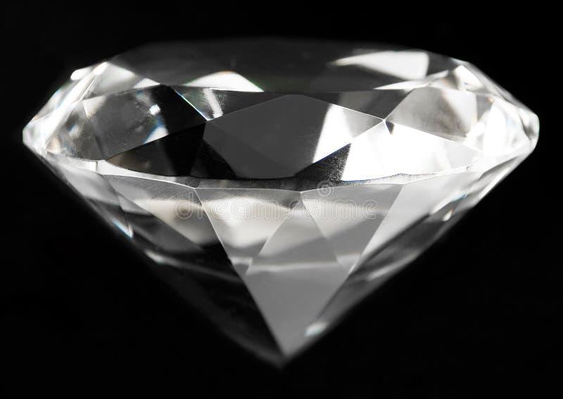 Cristal grande claro auténtico del diamante fotos de archivo