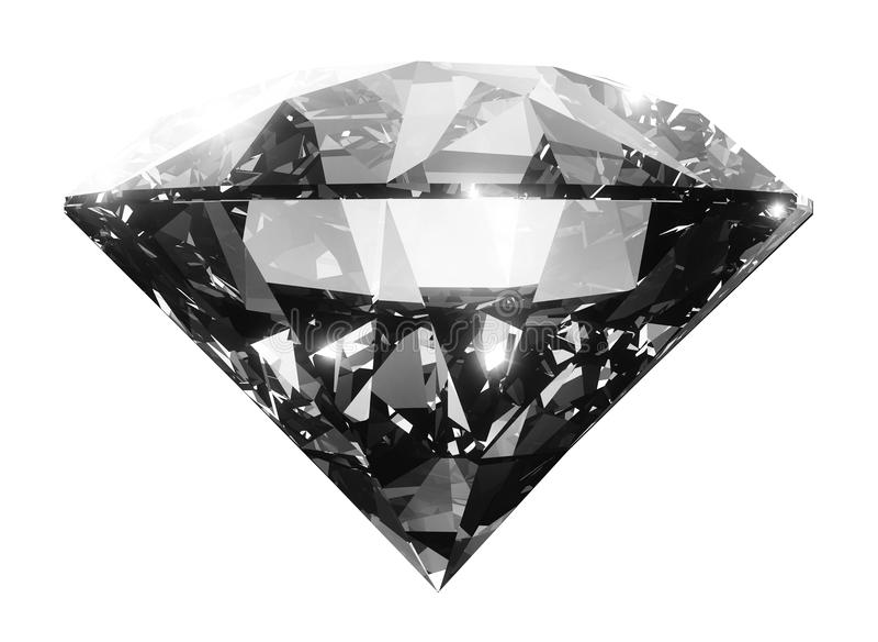 Cristal grande claro del diamante imagen de archivo