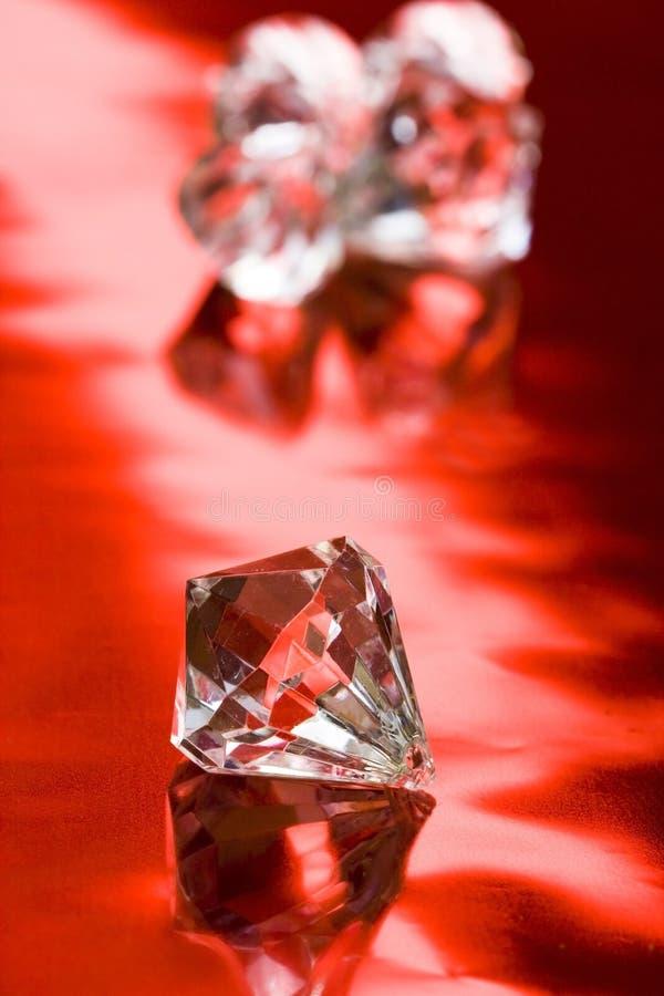 Cristal hermoso del diamante fotos de archivo