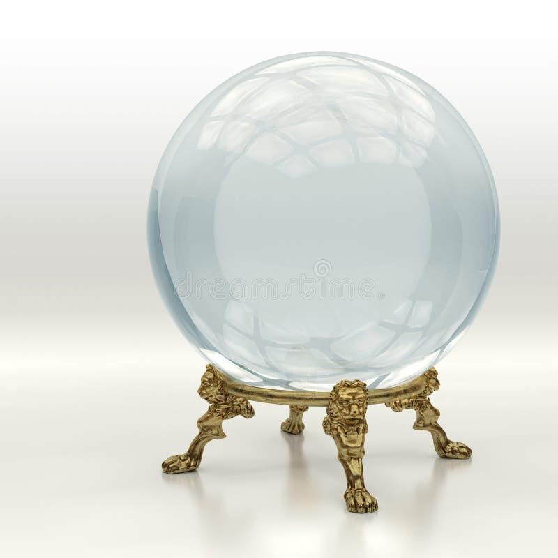 Cristal magische bal stock foto