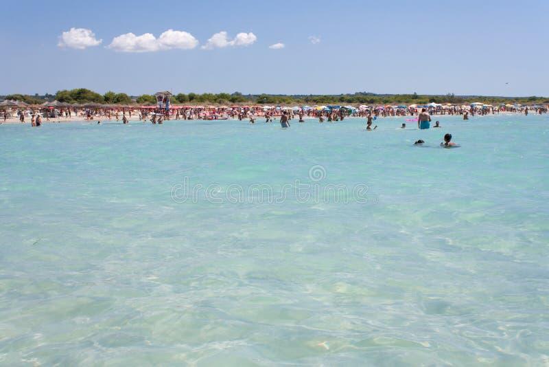 Cristal - mar desobstruído foto de stock