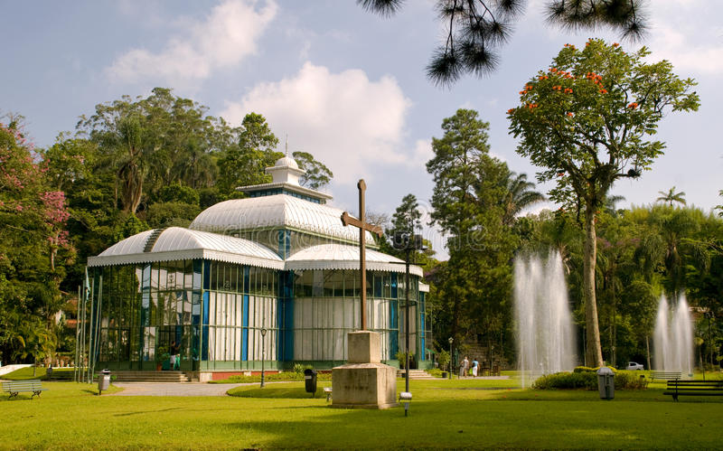 The Cristal Palace. In petropolis, Rio de Janeiro, an important landmark from the empire time of Brazil. Listed by the National Institute of Historic and royalty free stock photos