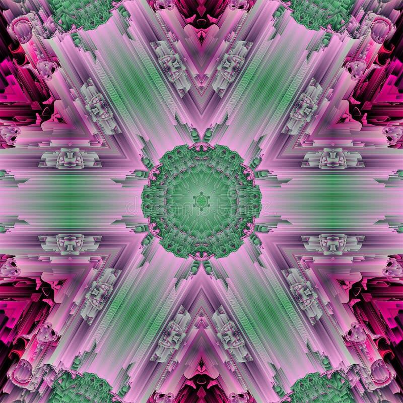 Cristal-Symmetriezusammenfassungs-Entwurfsmuster graphik lizenzfreie abbildung