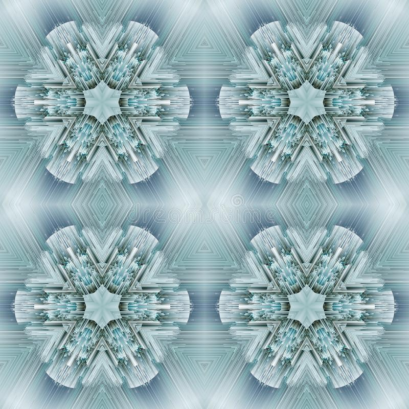 Cristal symmetry abstract design pattern. geometry wallpaper royalty free illustration