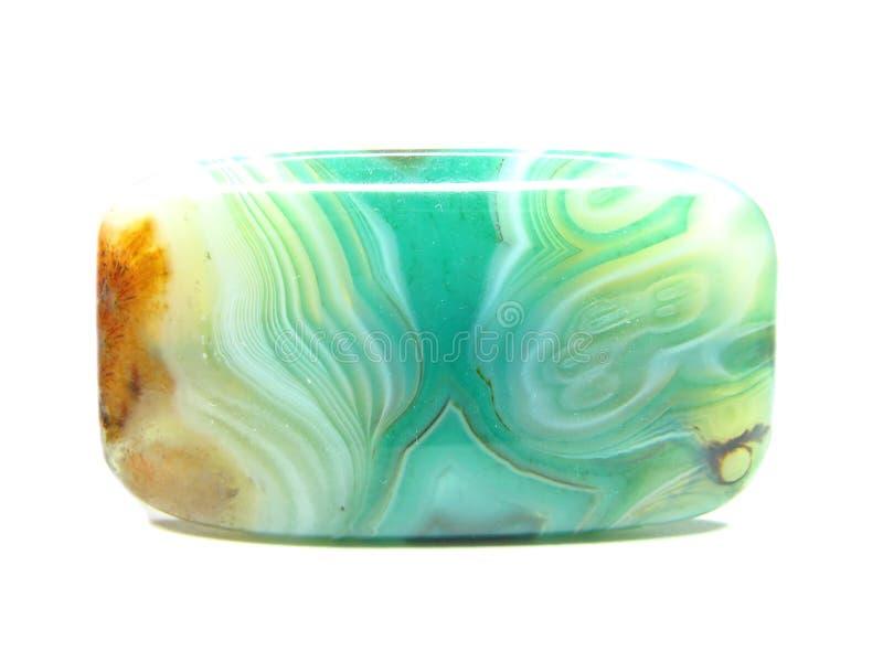 Cristal verde da calcedónia do texrure fotos de stock royalty free