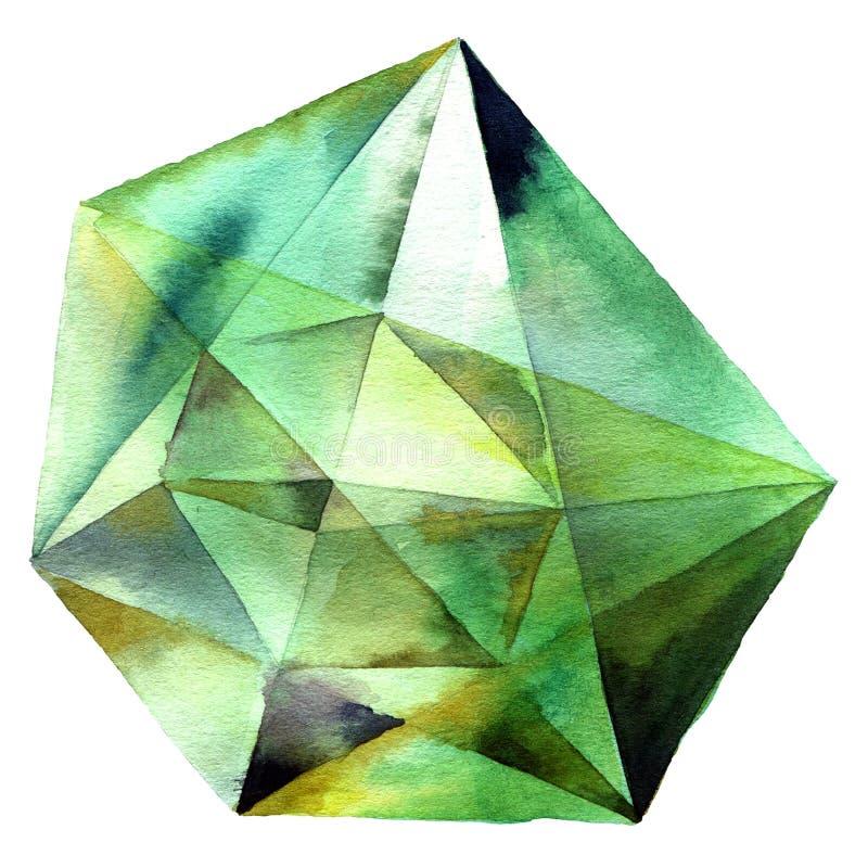 Cristal verde del diamante libre illustration