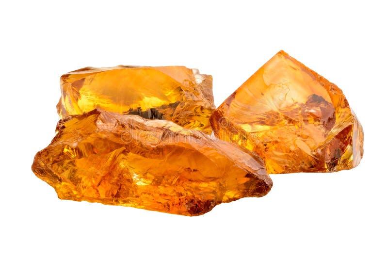 Cristales citrinos imagenes de archivo