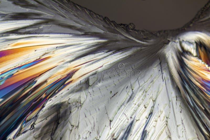 Cristales coloridos del micrófono del azúcar imagen de archivo libre de regalías
