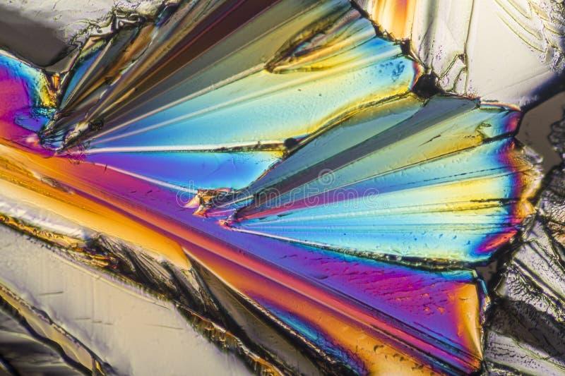 Cristales coloridos del micrófono del azúcar fotografía de archivo
