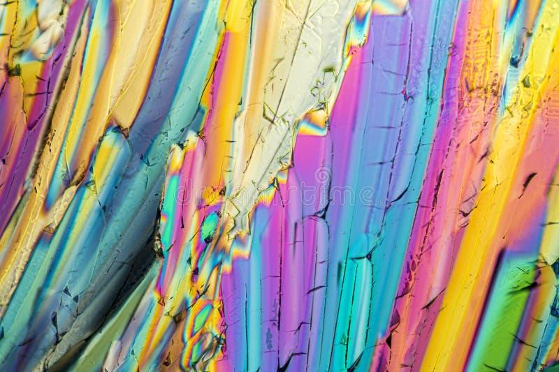Cristales coloridos del micrófono del azúcar imagenes de archivo