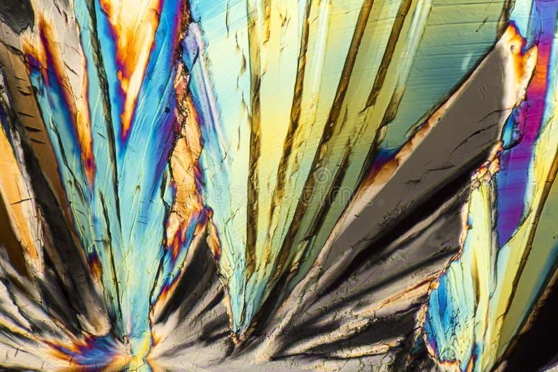 Cristales coloridos del micrófono de la sucrosa foto de archivo libre de regalías