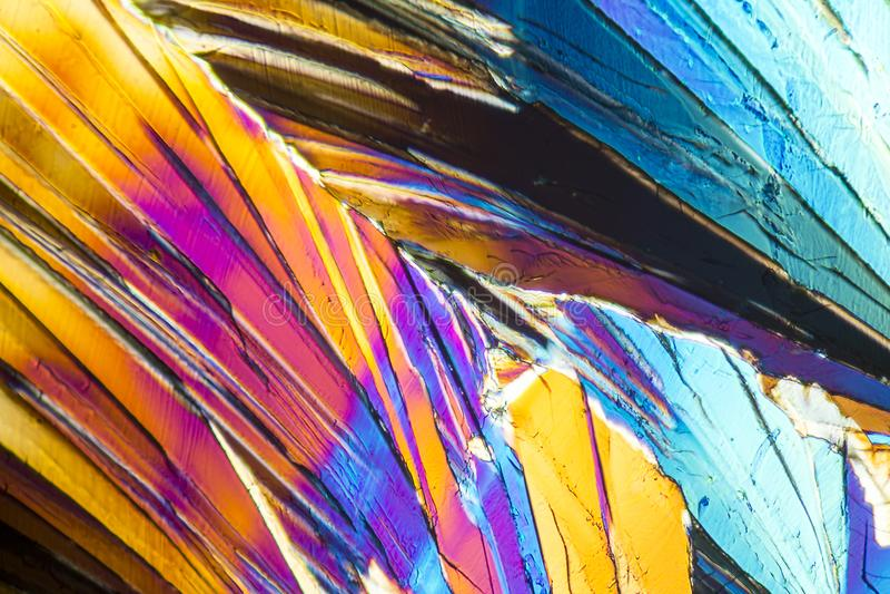 Cristales coloridos del micrófono de la sucrosa foto de archivo