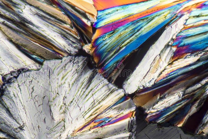 Cristales coloridos del micrófono de la sucrosa fotografía de archivo