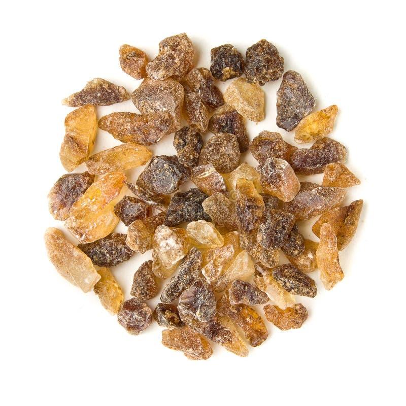 Cristales crudos del azúcar marrón tamaño pequeño foto de archivo libre de regalías