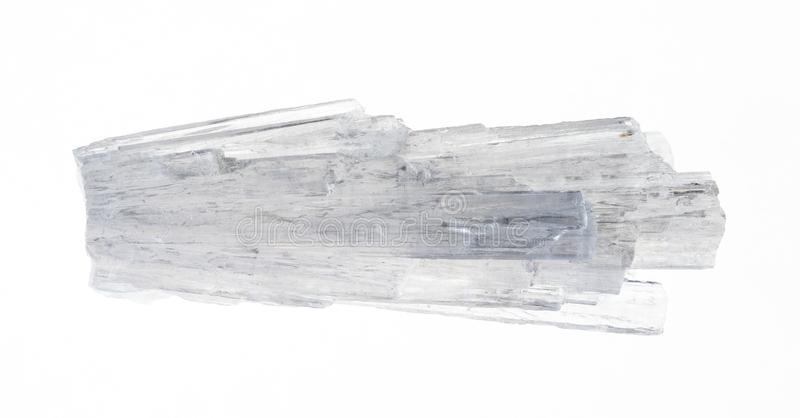 cristales crudos del scolecite en blanco fotos de archivo