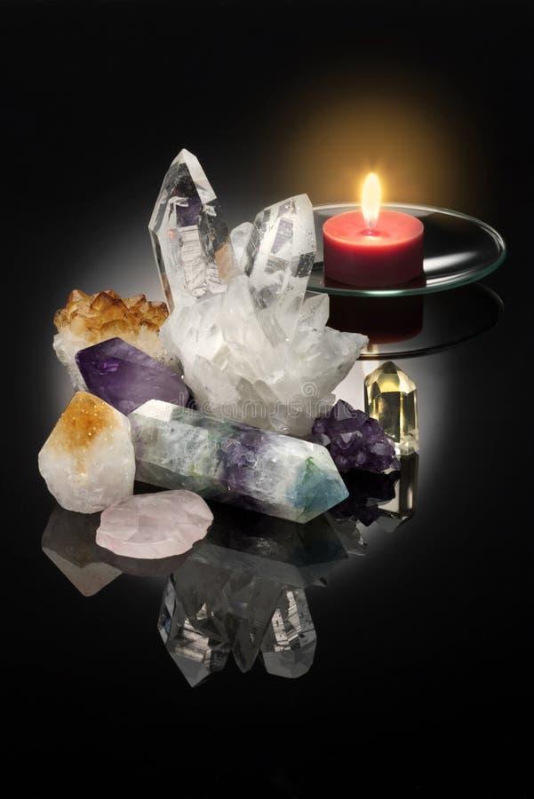 Cristales curativos fotos de archivo