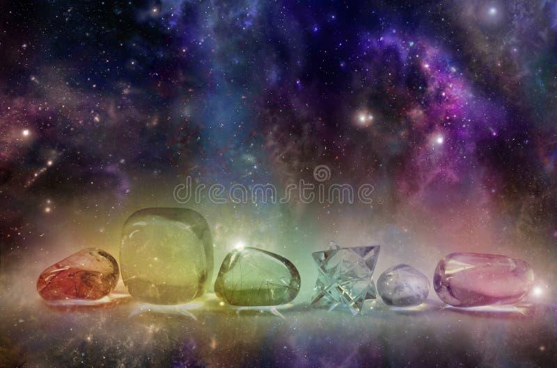 Cristales curativos cósmicos fotografía de archivo libre de regalías