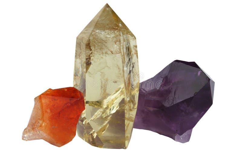 Cristales de cuarzo imagen de archivo