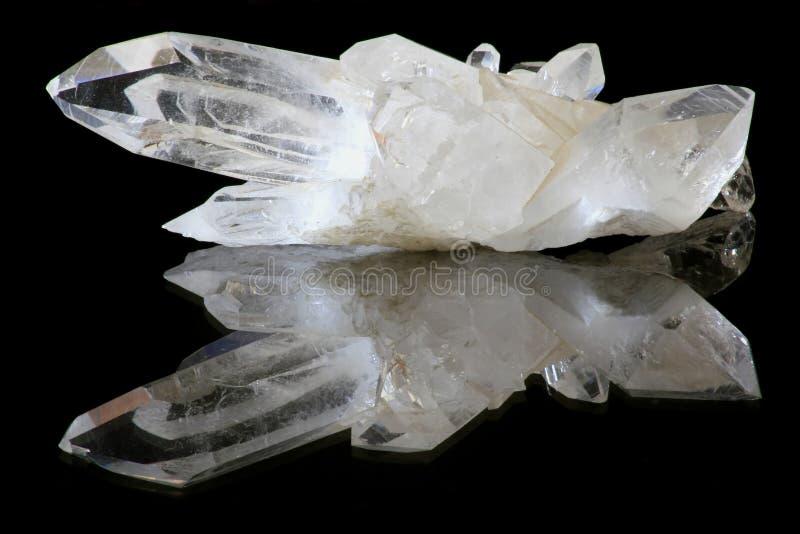 Cristales de cuarzo fotografía de archivo libre de regalías