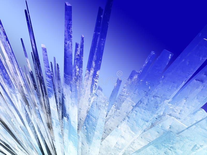 Cristales de hielo ilustración del vector
