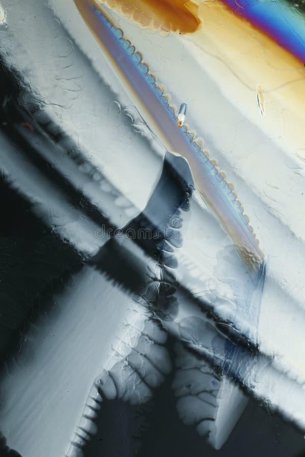 Cristales de hielo abstractos fotografía de archivo libre de regalías