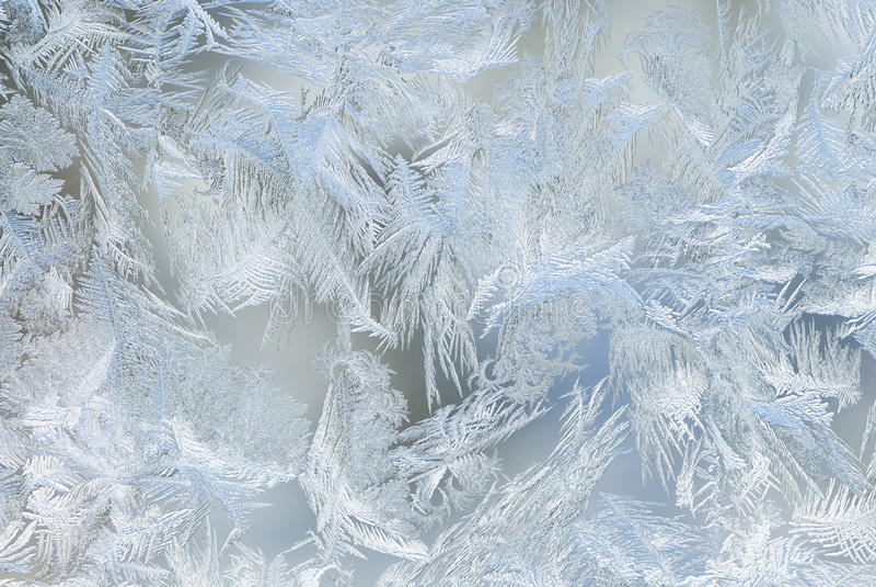 Cristales de hielo de ventana imagen de archivo