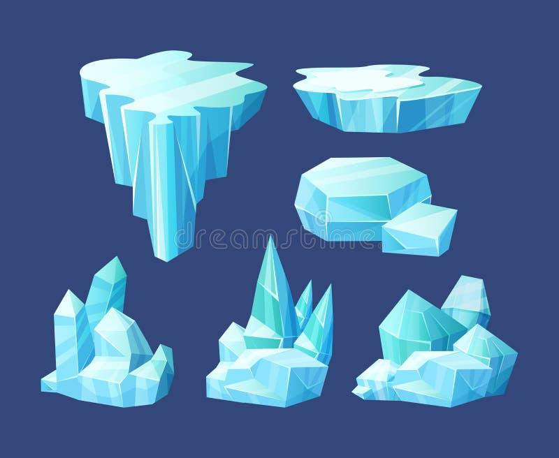 Cristales de hielo, trozos rotos de hielo, músculos libre illustration