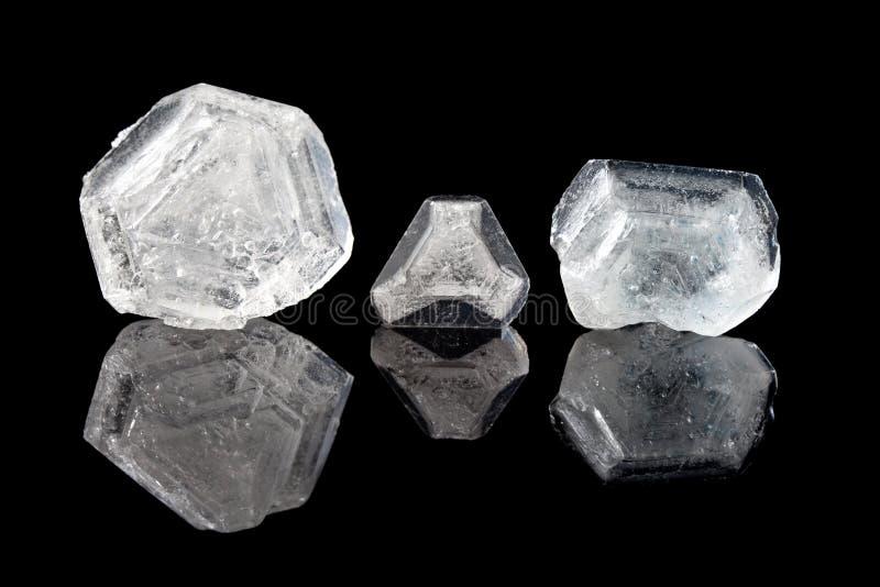 Cristales del alumbre fotos de archivo libres de regalías