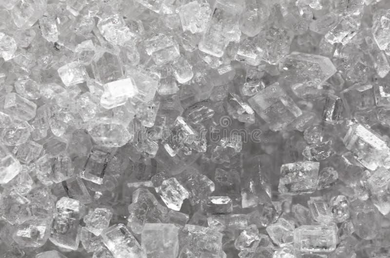 Cristales del azúcar blanco imágenes de archivo libres de regalías