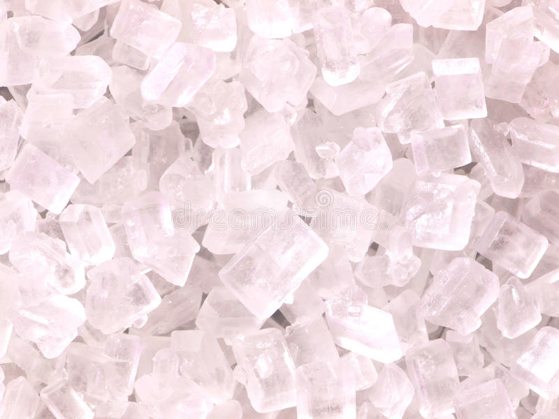 Cristales del azúcar blanco fotos de archivo libres de regalías