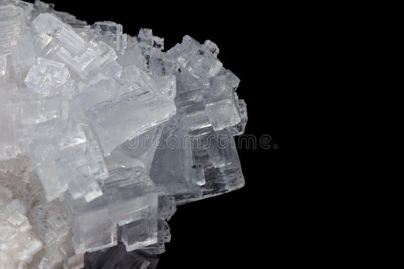 cristales del blanco de la sal fotos de archivo libres de regalías