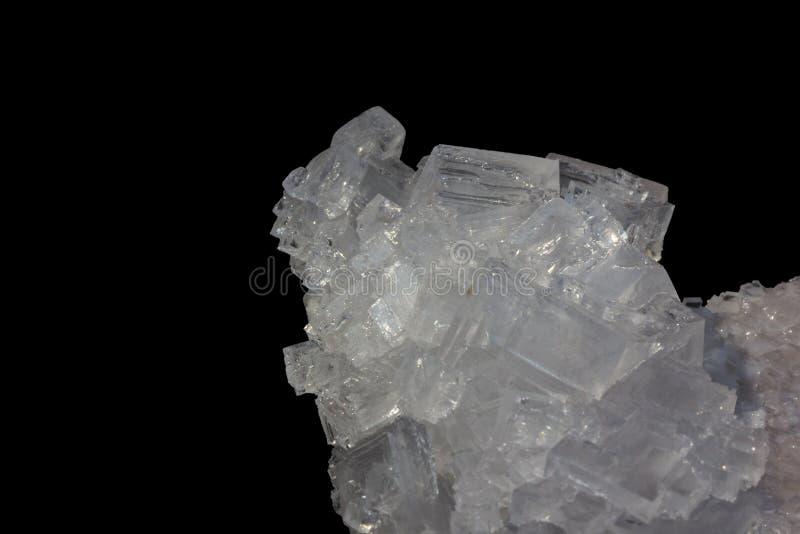 cristales del blanco de la sal imágenes de archivo libres de regalías