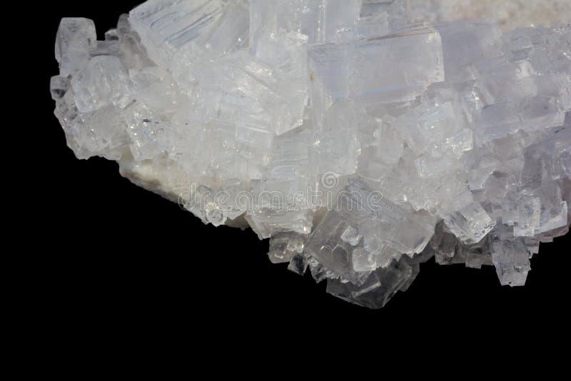 cristales del blanco de la sal fotografía de archivo