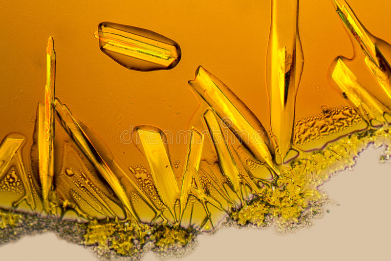 Cristales del cloruro férrico fotos de archivo libres de regalías
