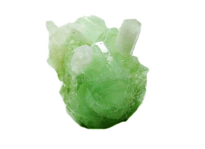 Cristales geológicos de la geoda cristalina del cuarzo de la aguamarina imagenes de archivo