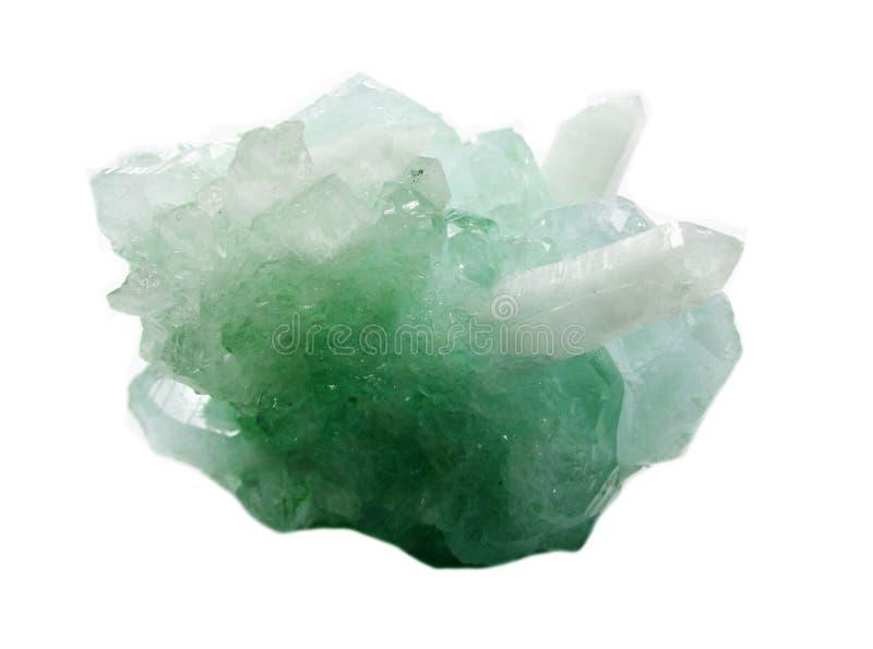 Cristales geológicos de la geoda cristalina del cuarzo de la aguamarina imágenes de archivo libres de regalías