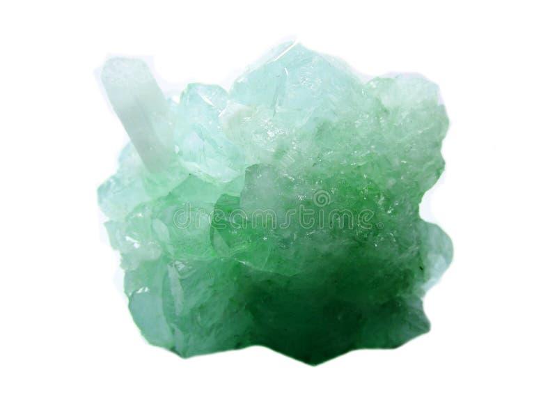 Cristales geológicos de la geoda cristalina del cuarzo de la aguamarina imagen de archivo