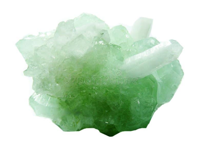 Cristales geológicos de la geoda cristalina del cuarzo de la aguamarina fotos de archivo