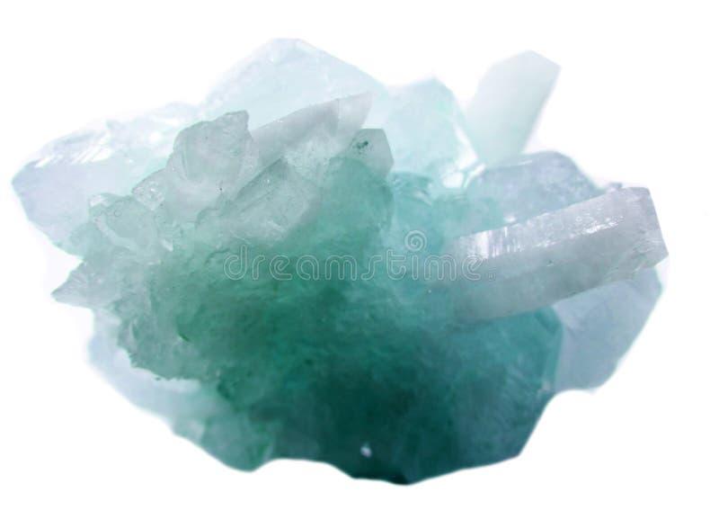 Cristales geológicos de la geoda cristalina del cuarzo de la aguamarina imagen de archivo libre de regalías