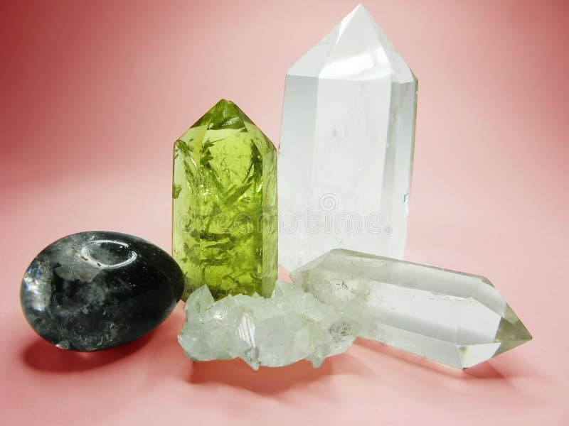 Cristales geológicos del geode citrino del cuarzo imágenes de archivo libres de regalías