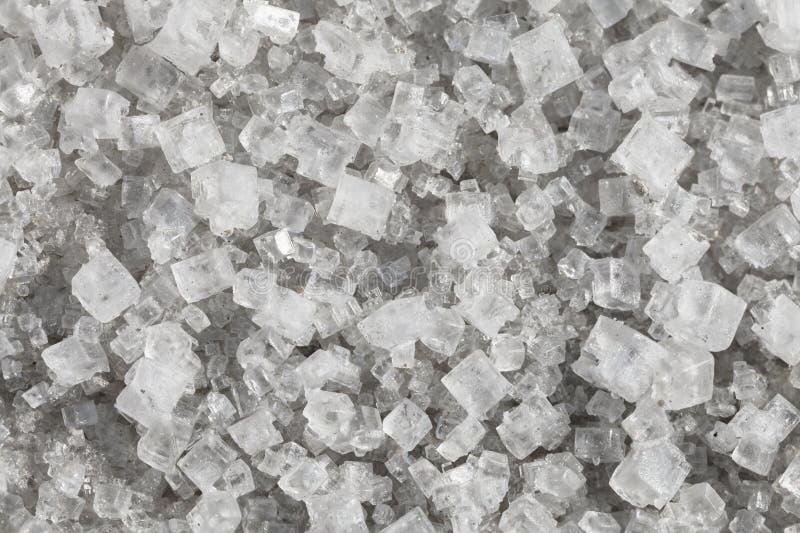 Cristales grandes del cloruro sódico foto de archivo libre de regalías